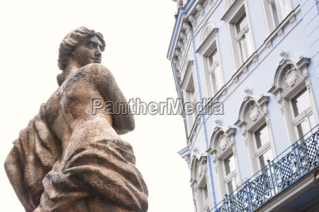 statue and architectural detail of a