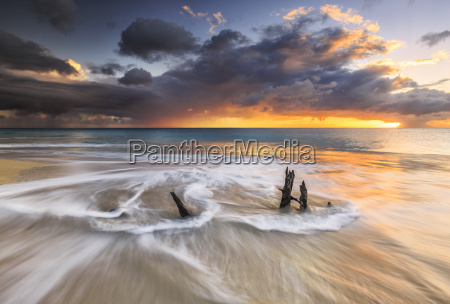 the waves and caribbean sunset frames