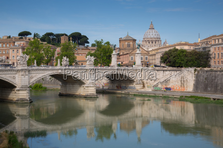 st peters and river tiber rome