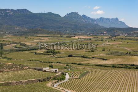sierra de cantabria mountains near san