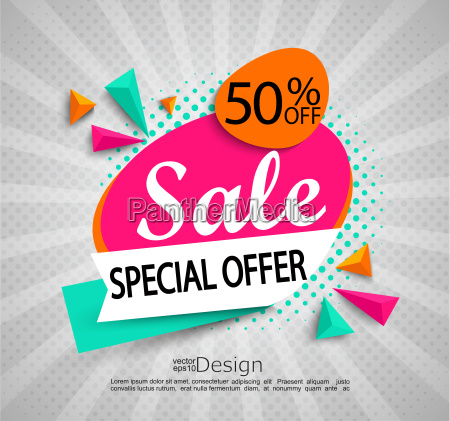 sale special offer bright
