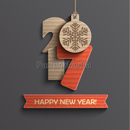 creative happy new year 2017 design