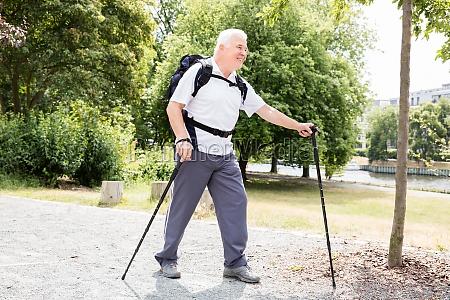 senior male hiker