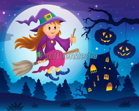 cute, witch, theme, image, 5 - 19075301