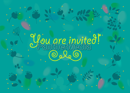 general invitation you are invited floral