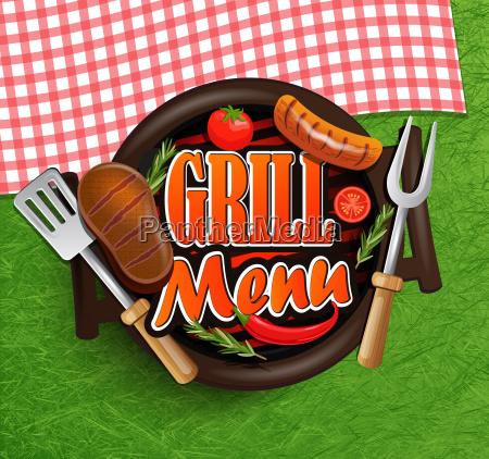 bbq grill menu