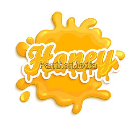 honey label splash
