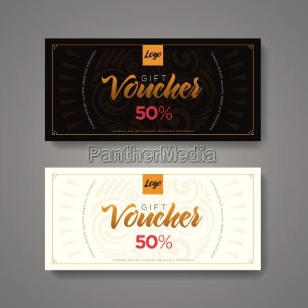 gift voucher design template luxury gold