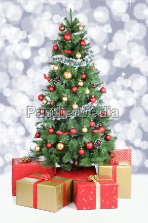 christmas tree christmas decoration snow snowing
