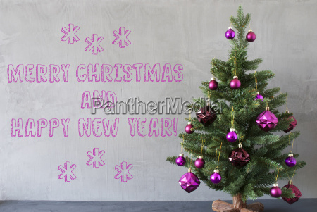tree cement wall merry christmas and