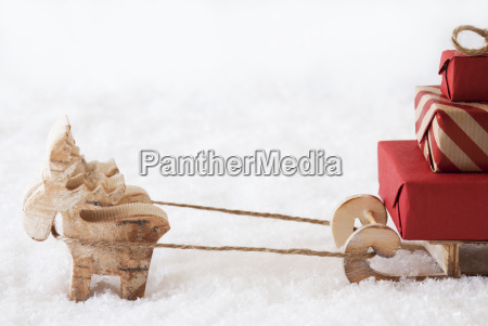 reindeer with sled white background copy