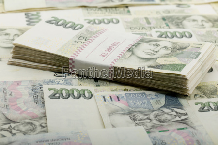 czech banknotes nominal value one and