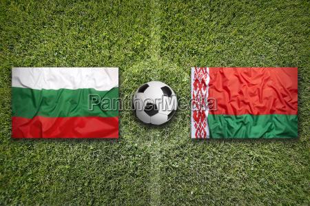 bulgaria vs belarus flags on soccer