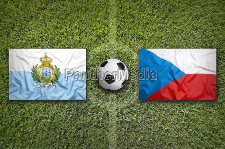 san marino vs czech republic flags