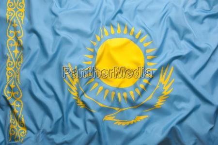 textile flag of kazakhstan