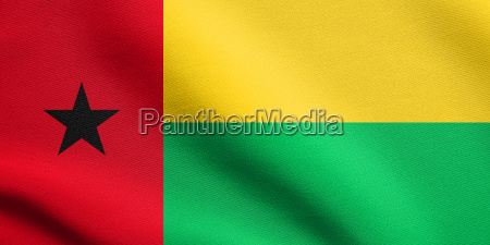 flag of guinea bissau waving with