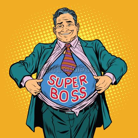 super boss a fat man businessman
