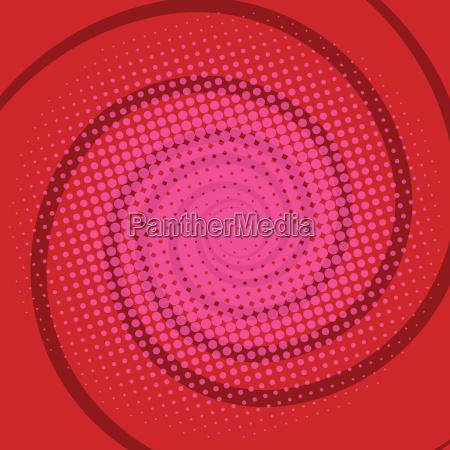 spiral red comics retro background