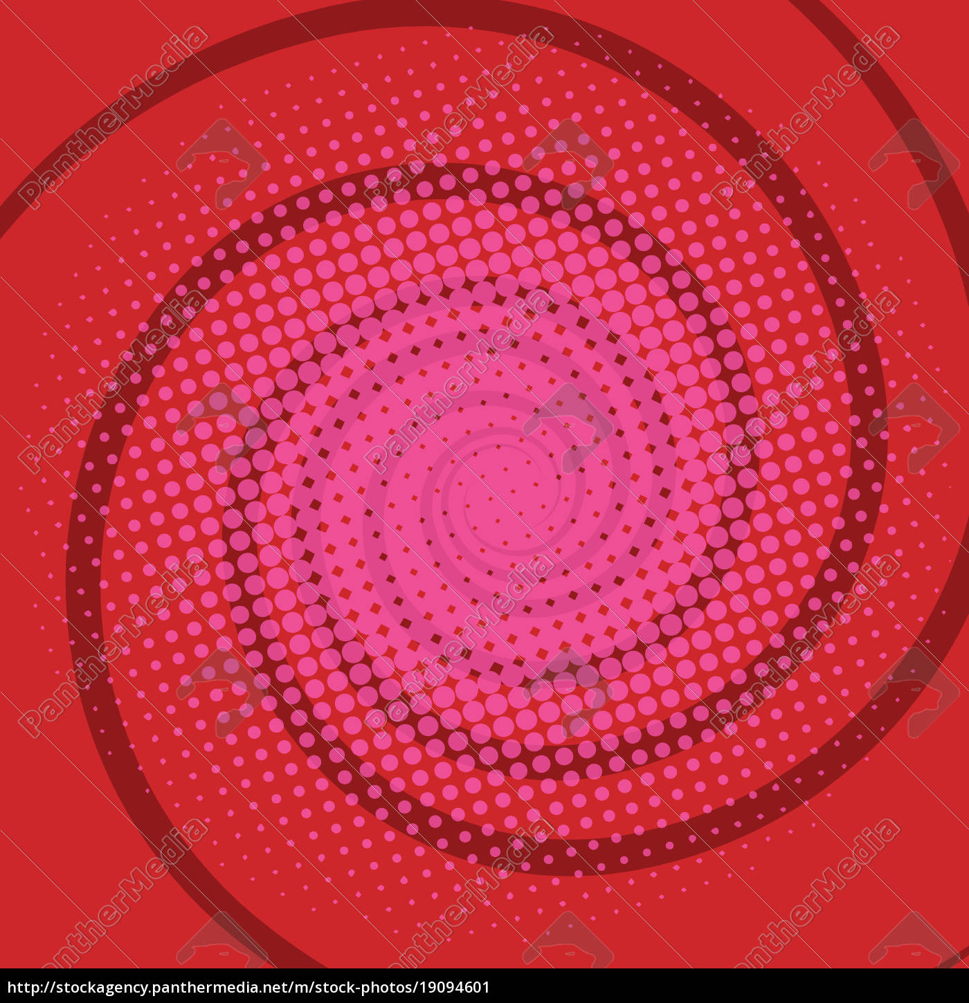 Royalty free image 19094601 - spiral red comics retro background