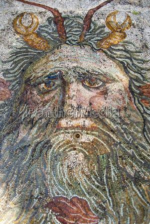 mosaic neptune utica punic and roman