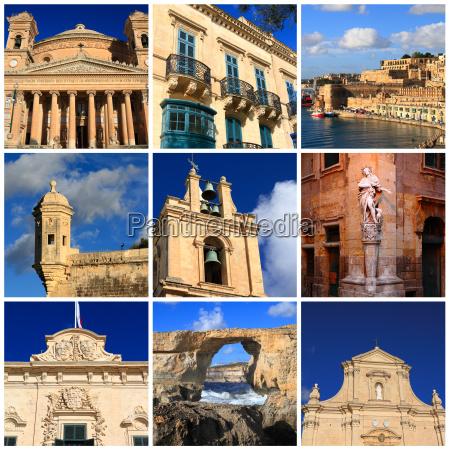 impressions of malta collage of travel