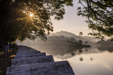 sunrise at kandy lake and the