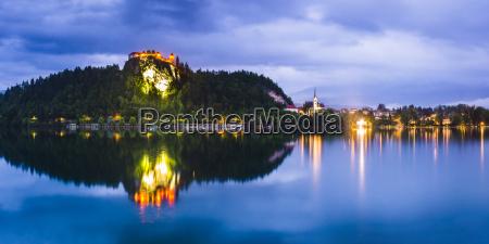 light reflections in lake bled julian