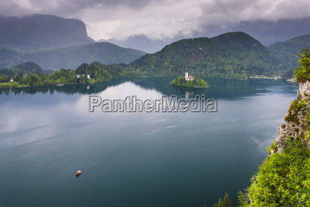 view of lake bled from lake