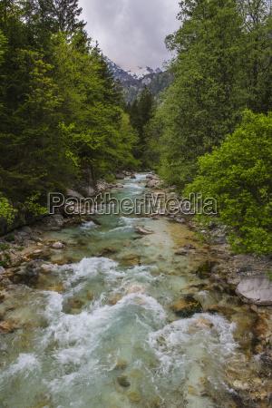 soca river in the soca valley