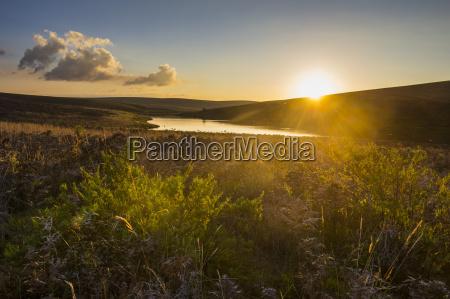 little lake at sunset nyika national