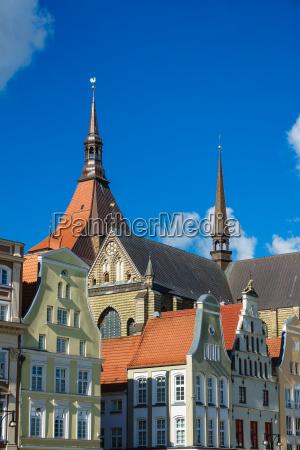 view of the marienkirche in rostock