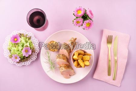 fillet with salad