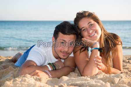 couple in summer time