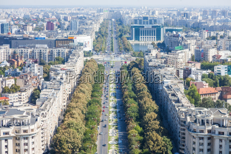 high, angle, view, of, bucharest - 19112027