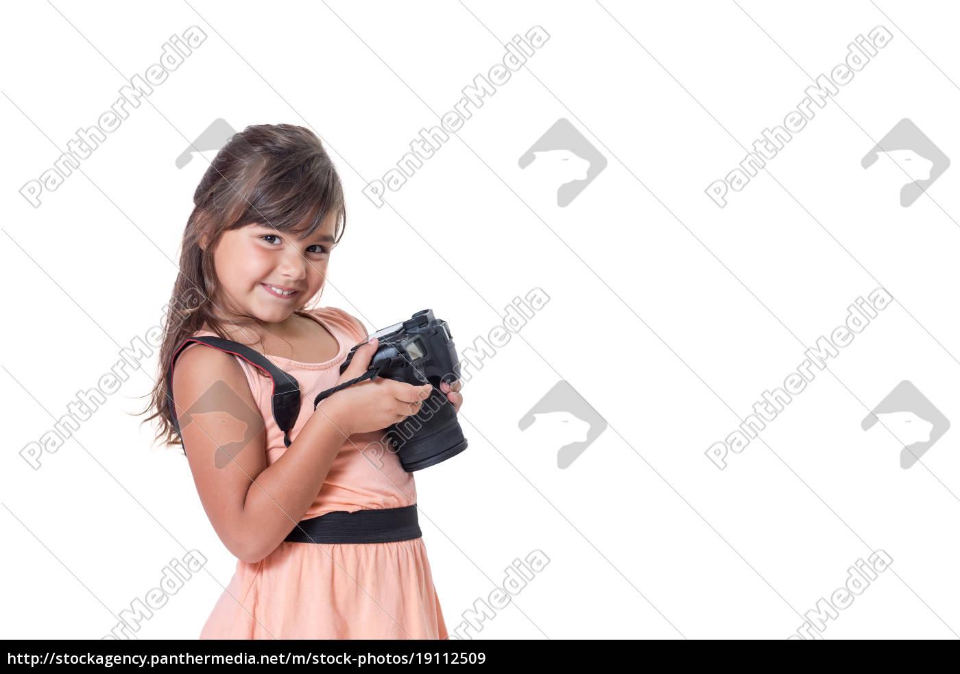 slightly, skewed, , little, girl, is - 19112509