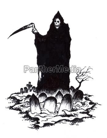 grim reaper of death in halloween