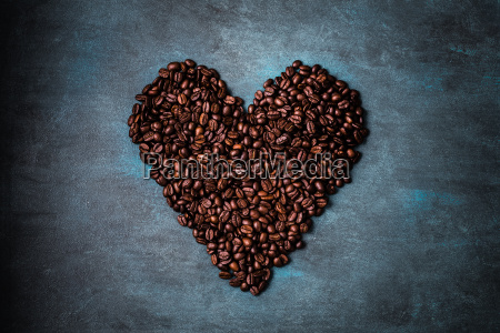 coffee, beans, shaped, as, heart - 19116943