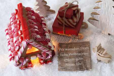 gingerbread, house, , sled, , snow, , gutes, neues - 19122097