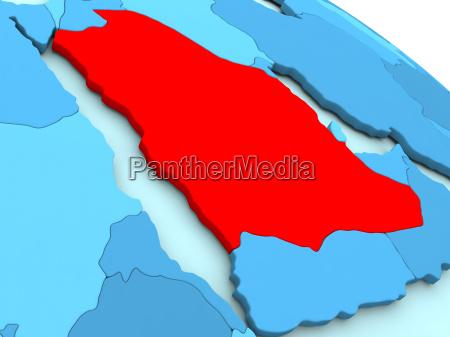 saudi, arabia, in, red, on, blue - 19123273