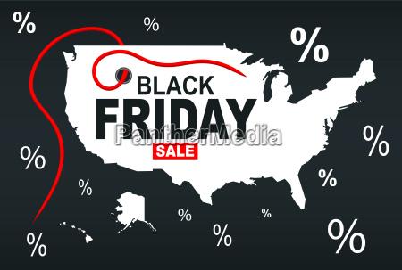 black friday map usa