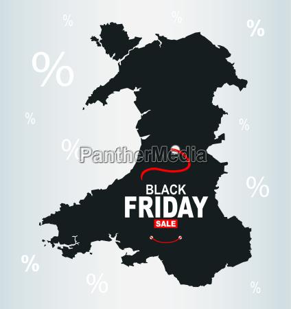 black friday map wales