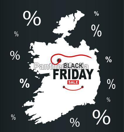 black friday map ireland