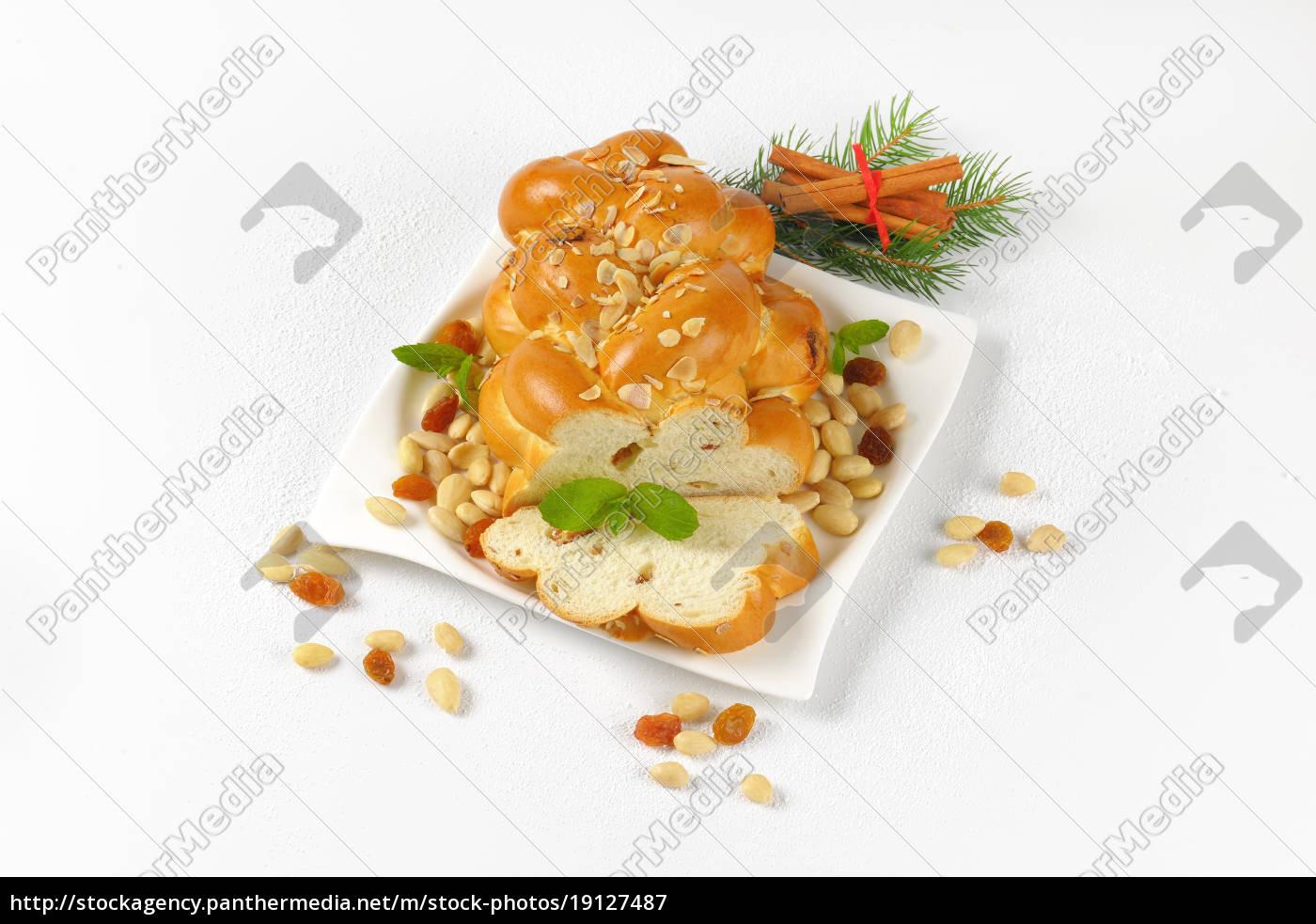 czech, christmas, braided, bread - 19127487