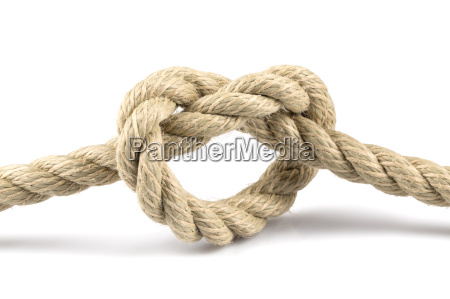 heart, shape, knot, of, rope - 19127557