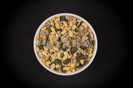 mixed, seeds, in, wooden, bowl - 19127763