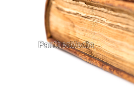 open, book, blank, on, white - 19127965