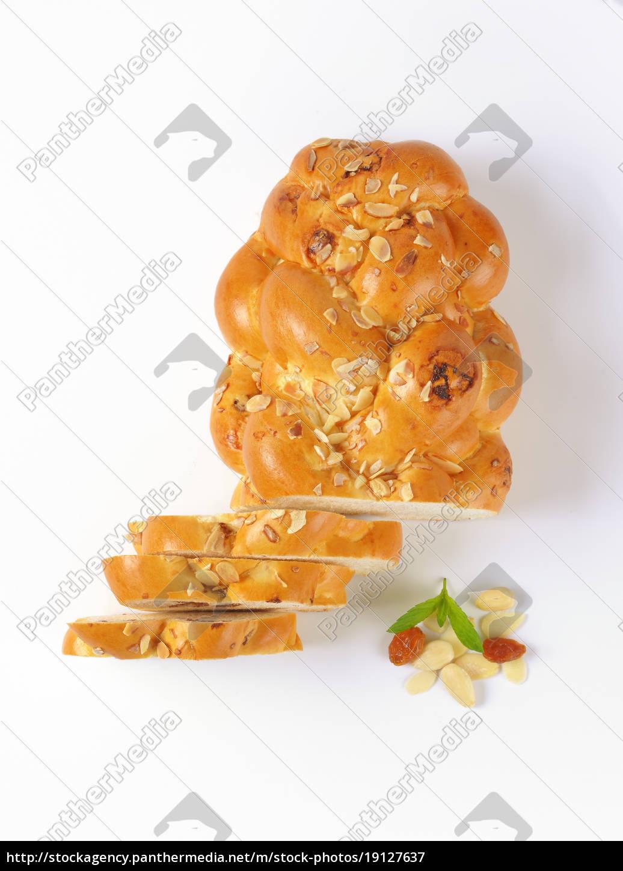 sliced, sweet, braided, bread - 19127637