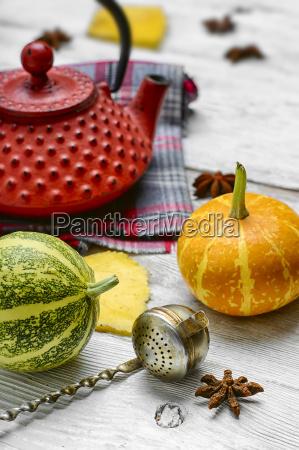 still, life, with, autumn, tea - 19127927