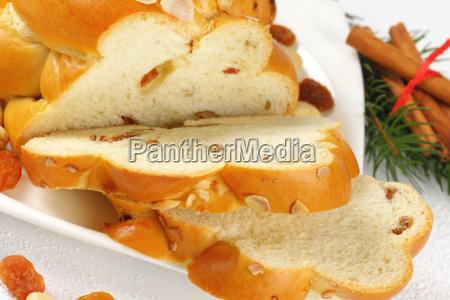 sliced sweet braided bread