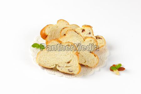 slices of czech christmas bread